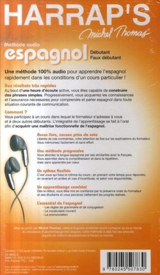 Image sur DVD audio mp3 - Harrap's Michel Thomas Espagnol (Débutant, Perfectionnement, et Vocabulaire) 20h 41 min.