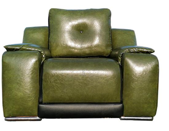 Image sur Salon Complet Moderne en Cuir Norvégien - 06 Places - Vert Olive