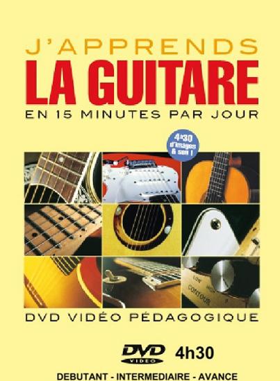 Image sur DVD vidéo - J'apprends la guitare en 15 minutes par jour (4h 30 min.)