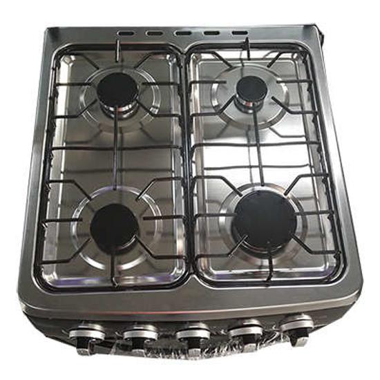 Image sur Cuisinière à Gaz Oscar - 60x60 - 4foyers Manuel - Noir/Blanc - 06 mois de garantie