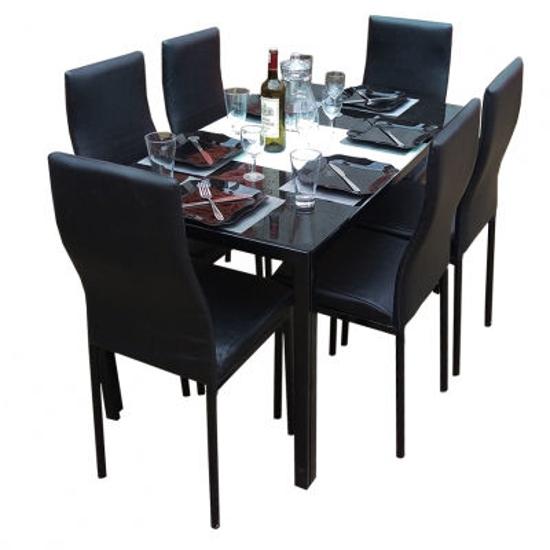 Table à manger démontable en verre 6 places-iziway Cameroun