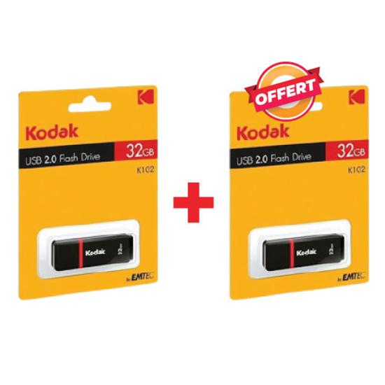 Image sur Clé USB Kodak K102 - 32 GB + La 2ème OFFERTE