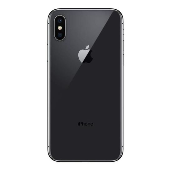 "Image sur Apple iPhone X - 5.8"" - 64Go ROM / 3Go ROM - 2900 mAH - Face ID - Noir - 06 mois de garantie"