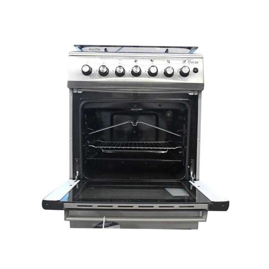 Cuisinière à gaz Oscar 4 foyers - 60 x 60 - inox et noir - 06 mois- iziway Cameroun