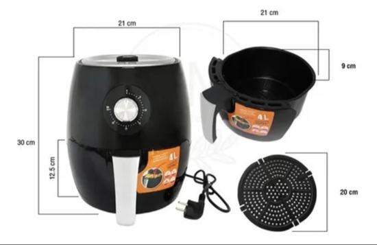 Image sur Friteuse à air chaud/Friteuse sans huile HÆGER 1500 watts- 03 mois