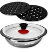 Image sur Jeu de casseroles/ Batterie de cuisine 16 pièces en inox, ROYAL SWISS- 03 mois