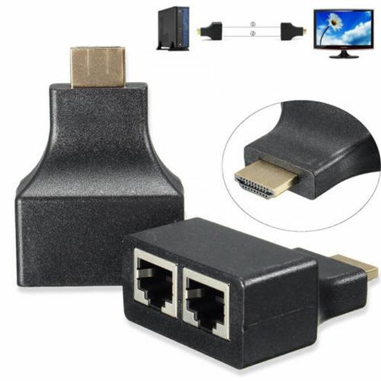 Image sur Adaptateur HDMI mâle vers RJ45 cat 5E/6