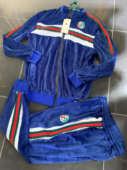 Image sur Ensemble Jogging col rond 2 Pièces haut et pantalon - Bleu