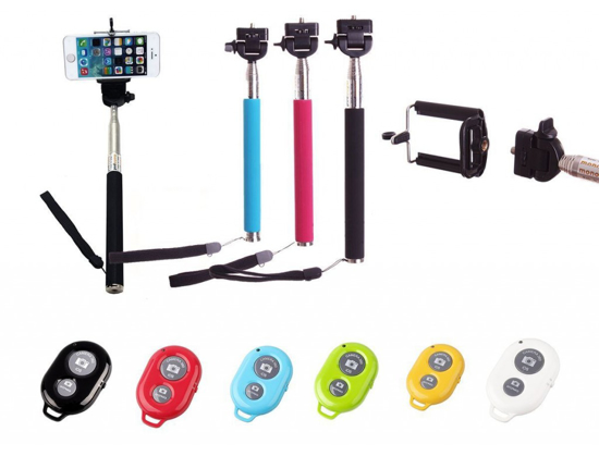 Image sur canne à selfie MONOPOD M-11 Bras monopode extensible avec télécommande Bluetooth