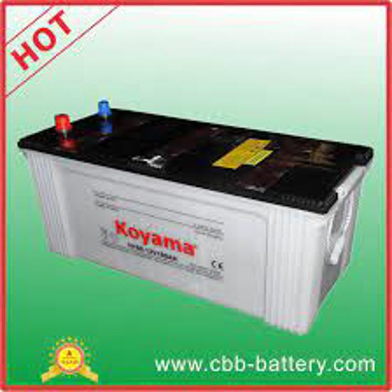 Image sur batterie vert citron 180Ah/12V