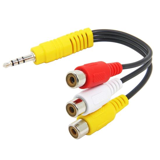 Image sur Adaptateur Câble Audio vidéo 3,5 mm mâle vers 3 RCA Femelle