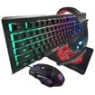 Image sur Kit Combo Gamer 4 en 1 ( clavier + souris + casque + tapis ) avec elairage