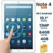 Image sur Discover Note 4 Plus, Quad Core, Dual Sim, Dual Camera, Tablet PC intelligent de 10,1 pouces, Android 8.1, 64 Go, 4 Go DDR3, 4G LTE, Wi-Fi,