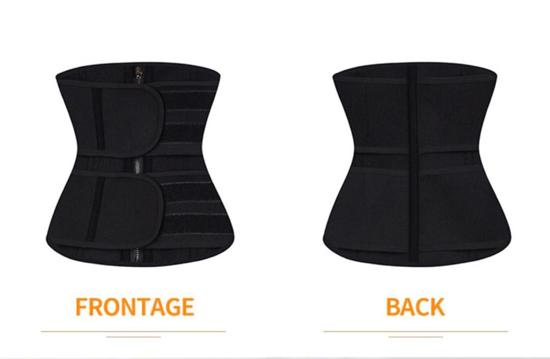 Image sur Gaines - PERFECT BODY - Corset chauffant double bande de haute qualité - noire