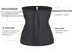 Image sur Gaines - PERFECT BODY - Corset minceur 25 OS d'acier 100% Latex - Noire