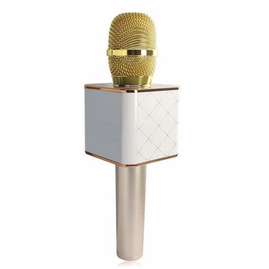 Image sur Microphone Q7 Bluetooth Sans Fil Portable - or