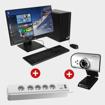 Image sur Ordinateur Complet HP 290 G2 + Rallonges APC SHEINDER ELECTRIC + Web Cam Light Wave LW IC 106