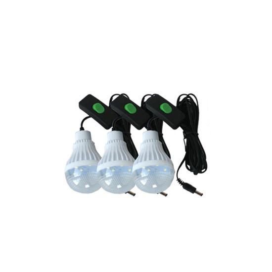 Image sur Système D'Eclairage Solaire Portable Rechargeable - GD 8216 - Avec Radio FM + 3 Lampes Led