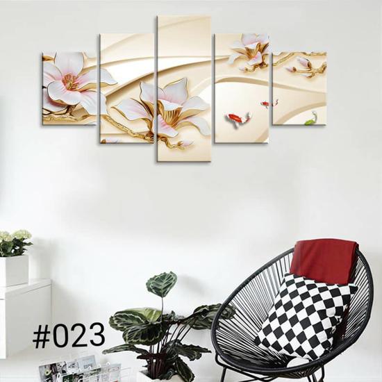 Image sur Tableau décoration d'intérieur - Rose or fond or