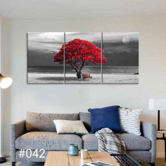 Image sur Tableau décoration d'intérieur - Arbre Rouge