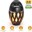 Image sur Haut-parleurs à flamme LED, haut-parleur torche à flamme Haut-parleur extérieur portable sans fil Bluetooth avec lumières scintillantes à LED