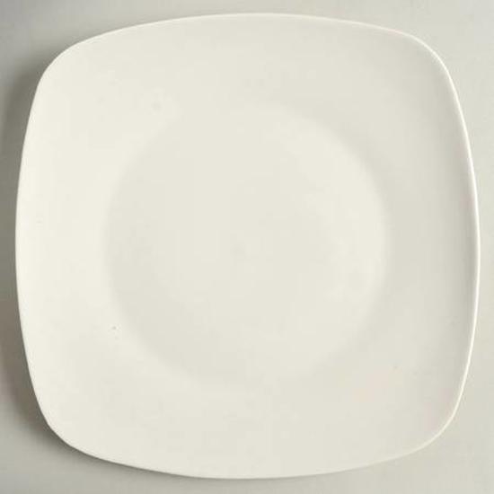 Image sur Lot de 28 grands plats carré  - Blanc -  Porcelaine
