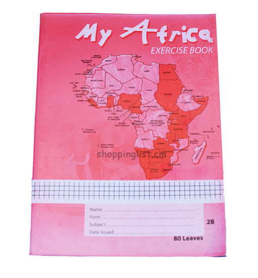 Image sur Cahier Anglophone- SAFCA - MY AFRICA  - 60 Leaves SQUARE