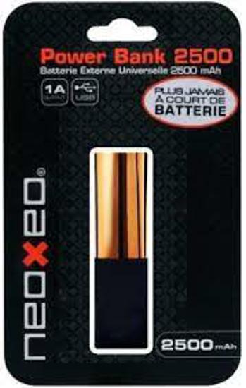 Image sur Power Bank - Neoxeo Lipstick - 2500mAh - Or