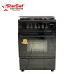 Cuisinière à gaz StarSat 04 foyers - 50 x 50 - automatique - noire - iziway Cameroun