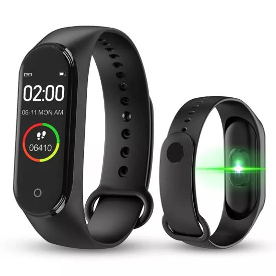 Image sur Montre connectée M4, Smart Band M4, Fitness Tracker, Montre Bracelet Fréquence Cardiaque, Pression Artérielle, Smart band Bracelet Podomètre.