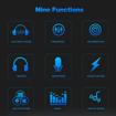 Image sur Kit de microphone à condensateur d'enregistrement de studio de diffusion professionnel avec carte son externe + pare-brise de micro + support antichoc + support de bras de suspension réglable + pince de montage + filtre anti-pop + câble audio