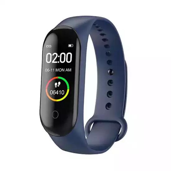 Montre connectée M4 - Smart Band M4 - Fitness Tracke - Fréquence Cardiaque, Pression Artérielle - Bleu-iziwaycameroun