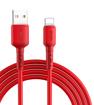 Long Cable Pt Kevin pour une charge rapide et efficace 1m rouge pour téléphone IPhone vous garanti une charge complète et vraie de votre batterie en optimisant celle-ci