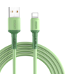 Long Cable Pt Kevin pour une charge rapide et efficace 1m vert pour téléphone IPhone vous garanti une charge complète et vraie de votre batterie en optimisant celle-ci