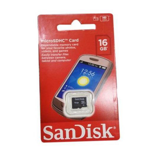 Image sur Carte mémoire SanDisk 16Gb pour document et données personnelles