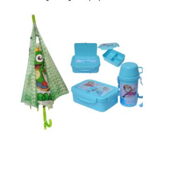 Image sur Pack gamelle + gourde + parapluie