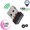 Image sur Adaptateur WiFi 150Mbps Carte Externe Clé USB sans Fil Dongle Antenne Intégrée Ethernet LAN Compatible Windows 10/7/XP