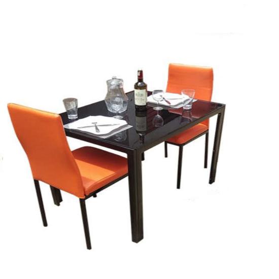 Image sur Salle À Manger Démontable En Verre - Très Solide - Orange + 1 Fer A Repasser  Offert