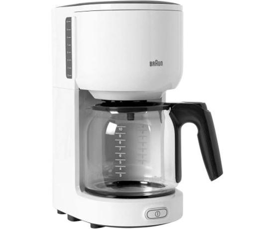 Image sur Cafétière Braun KF3100 - 600W - 1.25L/15 tasses - Blanc/Noir - 3 mois de Garantis