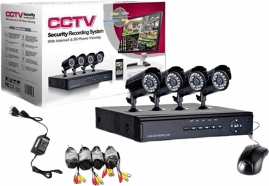 Image sur Caméra de sécurité CCTV avec 4 caméras