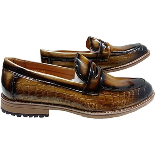 Image sur Chaussure en Cuir - Marron Claire et Noir