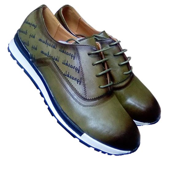 Image sur Chaussure en Cuir - Vert Foncé