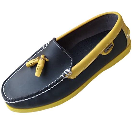 Image sur Chaussure Bateau - Noir et Jaune