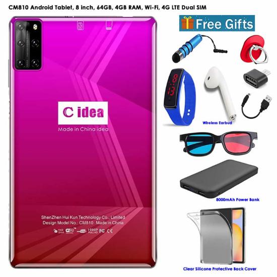 Image sur Tablette C idea 8 pouces, Dual Sim,  3 Go de RAM, 32 Go, Wifi, 4G Lite + Power Bank OFFERT