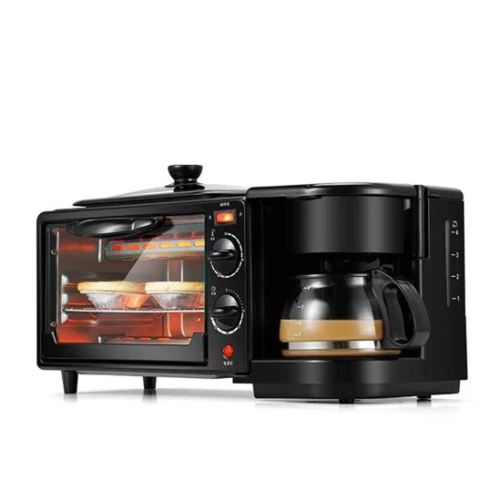 Image sur Machine Multifonction 3-en-1 Petit déjeuner Machine, avec Cuisson, Omelette, Chauffage, Décongeler, Grill et 0,6 L Cafetière
