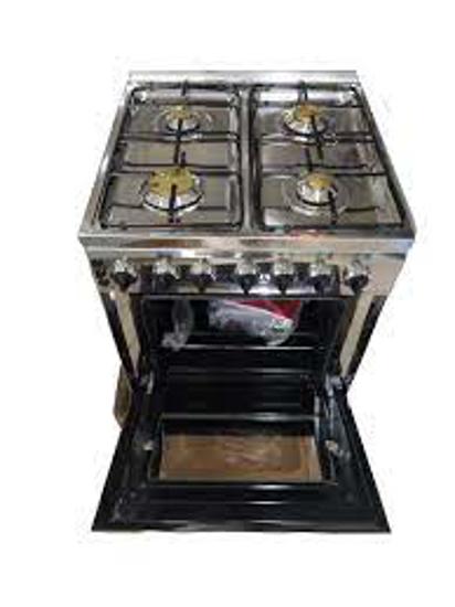 Image sur Glamstar cuisinière - 55*55 - 4 feux - Argent - 6 Mois Garantis